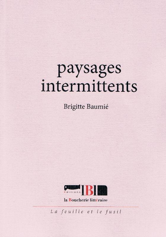 <i>Paysages intermittents</i>