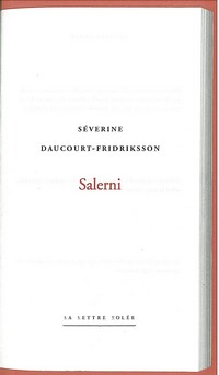 Salerni de Séverine Daucourt-Fridriksson